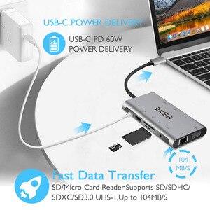 Image 5 - EKSA HUB USB C 10 in 1 Thunderbolt 3 Tipo C Adattatore Dock 3 Porta USB 3.0 4K HDMI 1080P VGA RJ45 Gigabit Ethernet Per Macbook Pro