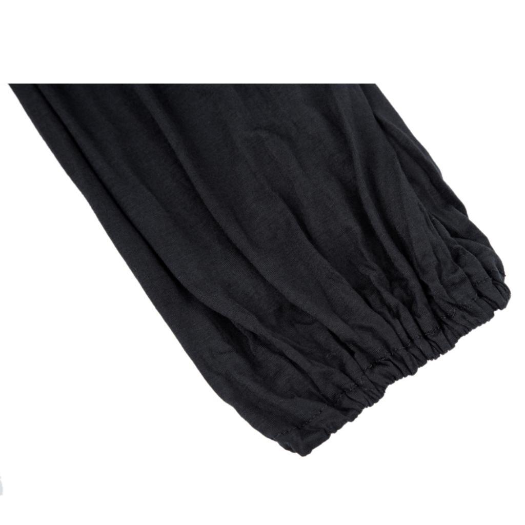 Pantalon noir, de yoga tai chi, large ample bouffant souple, pour hommes et femmes, gros plan sur la cheville resserrée