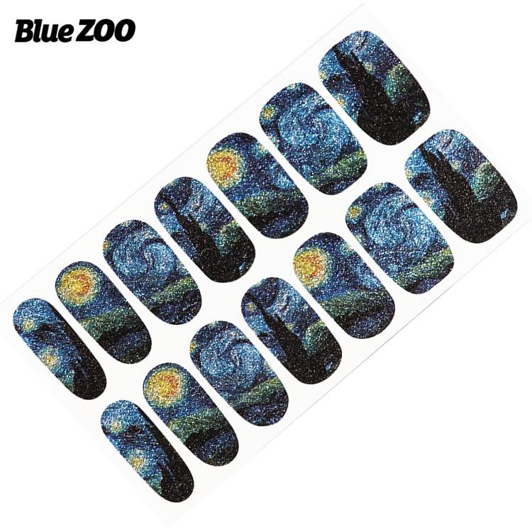 1 unid plantilla de Vincent van Gogh Etiqueta Engomada Del Clavo Del - Arte de uñas - foto 2