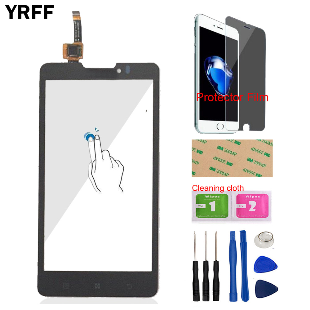 Touch Screen TouchScreen For Lenovo P780 P 780 Touch Screen Glass Panel Digitizer Panle Front Glass Sensor Tools Protector Film