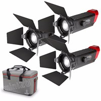 Aputure LS mini20 LED Video Light Kit LED Fresnel Light TLCI CRI 96+ Flood Your Light from 20 to 80 Degree