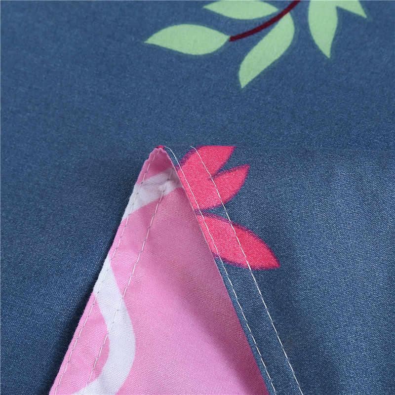 Gaya Baru Burung Unta Set Tempat Tidur 3/4 Pcs Court A Duvet Quilt Cover Bed Sheet Bantal Case Rumah tekstil Seprai