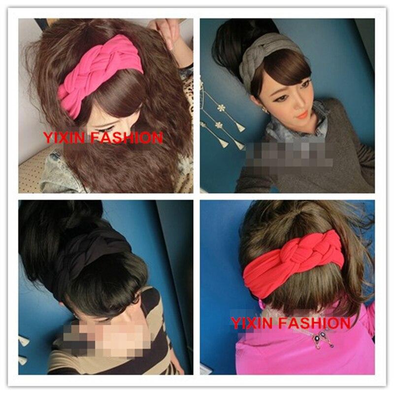 NEW Fashion Women Ladies Twist Turban Style Stretchy Knot Headband Workout  Hair Band Head Wrap Multi Colors d193f211ba0