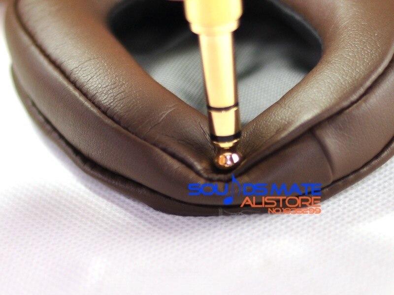 Softer Protein Leather Cushion Ear Pad For Sony MDR 1R 1RNC 1RMK2 1RBTMK2 1A 1ADAC 1ABT DAC BT Headphone Brown