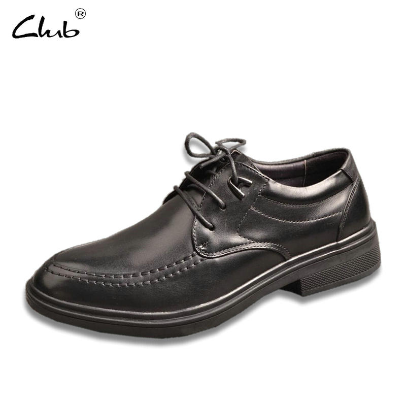 Club Leather Formal Shoes For Men Lace-up Business Casual Shoes Genuine Leather Mens Dress Shoes Zapatillas Hombre Oxford Shoes leather casual shoes zapatillas hombre casual sapatos business shoes oxford flats hand made man shoe free shipping sv comfort