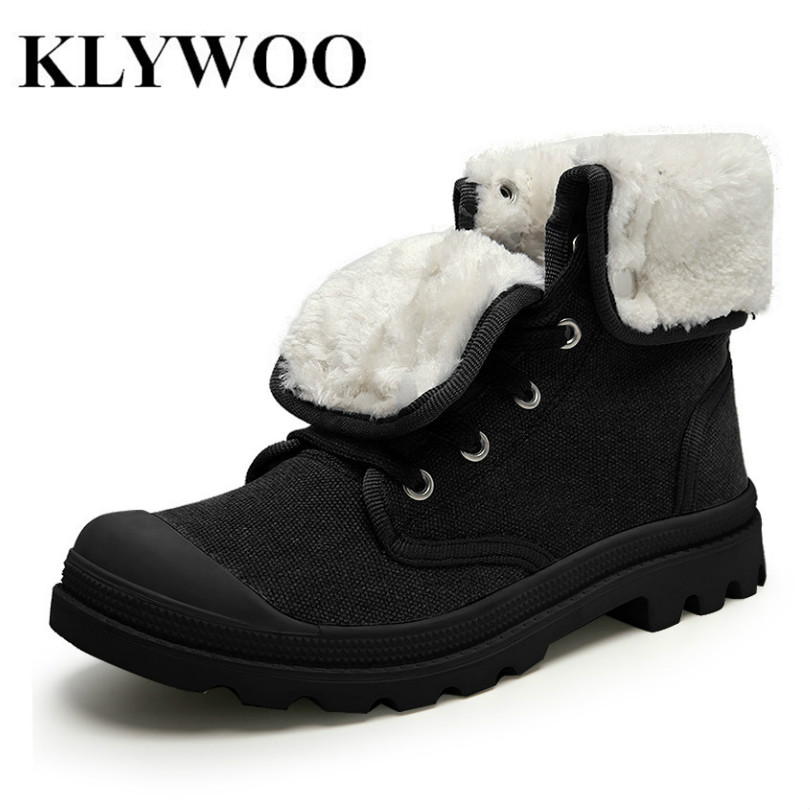 KLYWOO Hot Casual Men Shoes High Top Fashion New Winter Lace-Up Casual Ankle Boots Autumn Shoes Men Canvas Shoes Zapatos Hombre