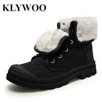 KLYWOO Men Shoes High Top Fashion New Winter Front Lace Up Casual Ankle Boots Autumn Shoes