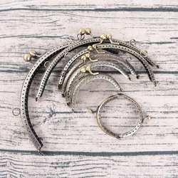 1 шт. нежный DIY античная латунь металлический кошелек рамки кольцо поцелуй ручка с пружинным фиксатором для сумка Craft мешок решений клип 7