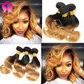 8A Star Style Hair Products Malaysian Virgin Hair Body Wave 3 paquetes de 2 Tonos Ombre Malasio del Pelo Humano Corto Bob Pelo Ondulado