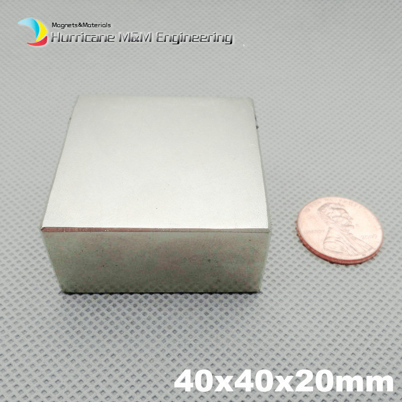 N52 NdFeB Block 40x40x20 mm water meter filter Strong magnet Neodymium Permanent Magnets Rare Earth Magnets 50x50x25mm available 5pcs round circular cylinder 25 x 20 mm magnet rare earth neodymium 25 20 mm