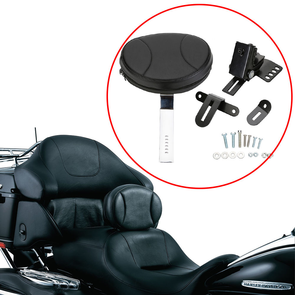Adjustable Plug In Driver Rider Backrest Kit For Harley Touring FLTR FLHT FLHR Electra Road Street Glide Road King iridium saddle shield heat deflector for harley 2009 2016 electra tri glide trike touring road king street glide flht fltr flhr