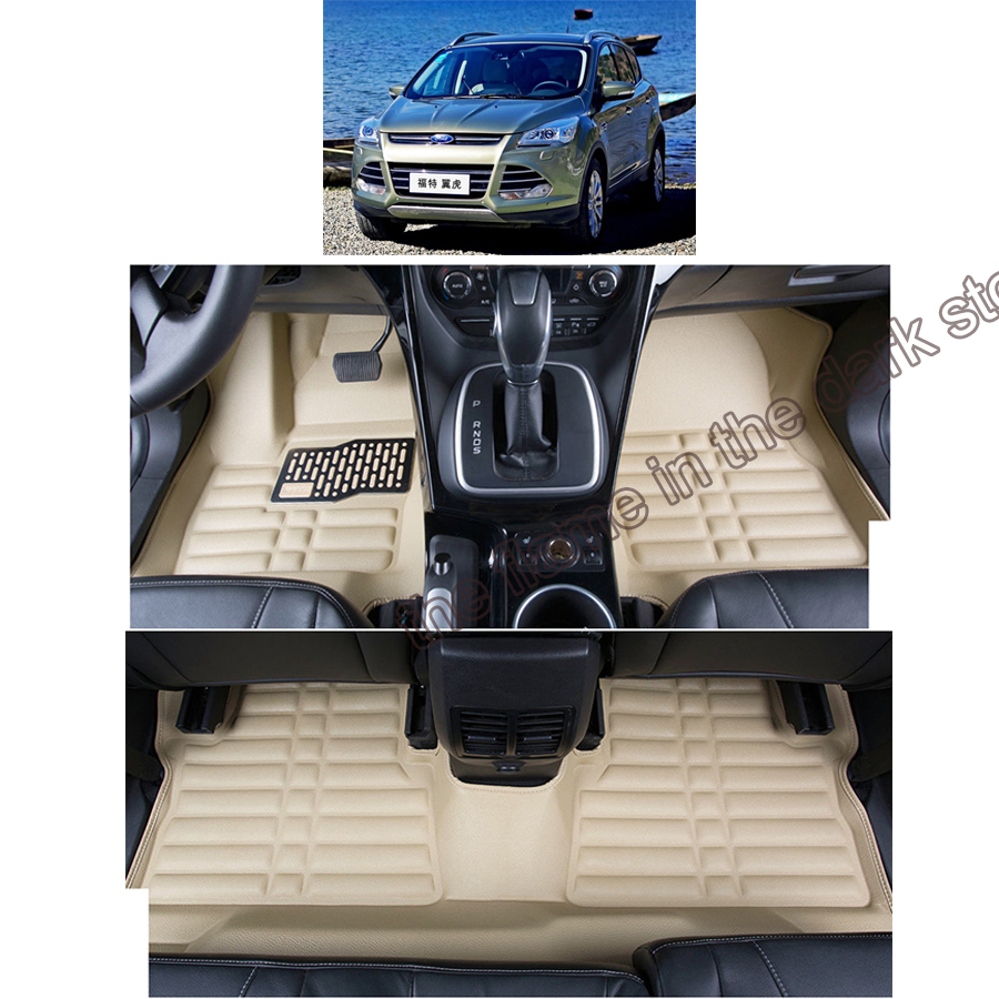 fast shipping fiber leather car floor mat carpet rug for ford kuga ford escape 2012 2013 2014 2015 2016 2017 2018 2nd generation трещотка jtc 3630