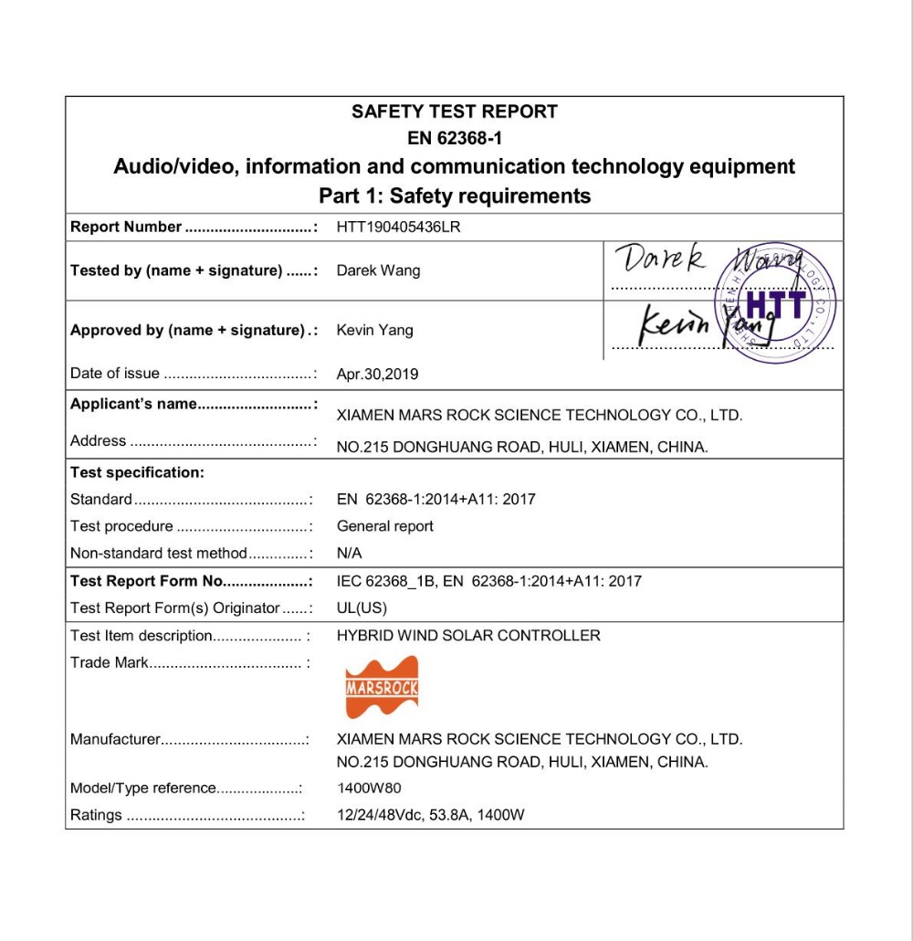 safe test 1