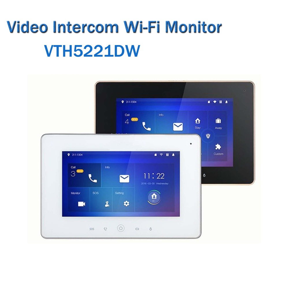 Dahua VTH5241DW Video Intercom 7inch WiFi Indoor Monitor H.264 SD Card slot Touch Screen Video Intercom without logo ...