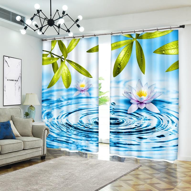 Креативные 3D шторы для гостиной с изображением капли воды, современные шторы для гостиной, высокоточный оттенок
