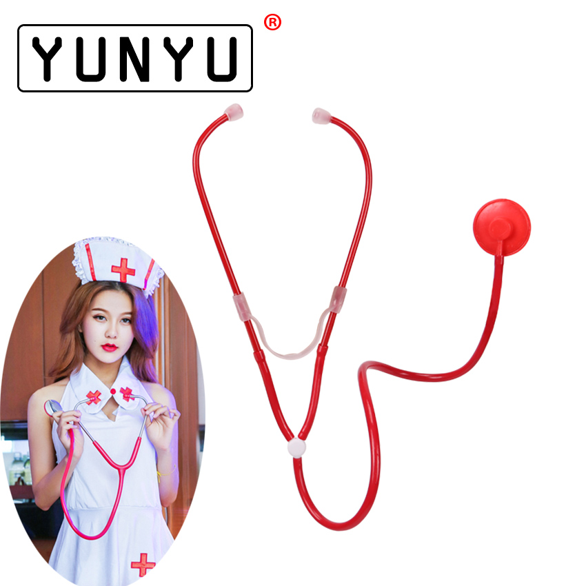 1PC Plastic Earpiece Cosplay Doctor Nurse Game Stethoscope Sex Products Adult Games Medical Themed Toys