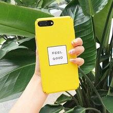 Żółte etui Feel Good iPhone