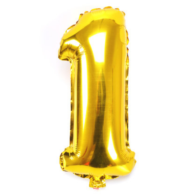 number 1 birthday balloon