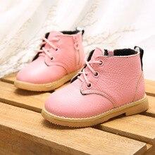 Для малышей зимние ботинки на резиновой подошве натуральная кожа для девочек Martin Ботинки на резиновой подошве зимние ботинки на резиновой подошве для девочек зимняя обувь