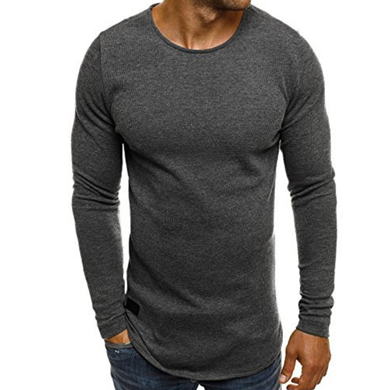 INCERUN Männer Langärmliges Strick T-shirt Bodybuilding Fitness-Studios Fitness Trainingsanzug T Tops Rundhals Crossfit T-shirt 2018 Frühling