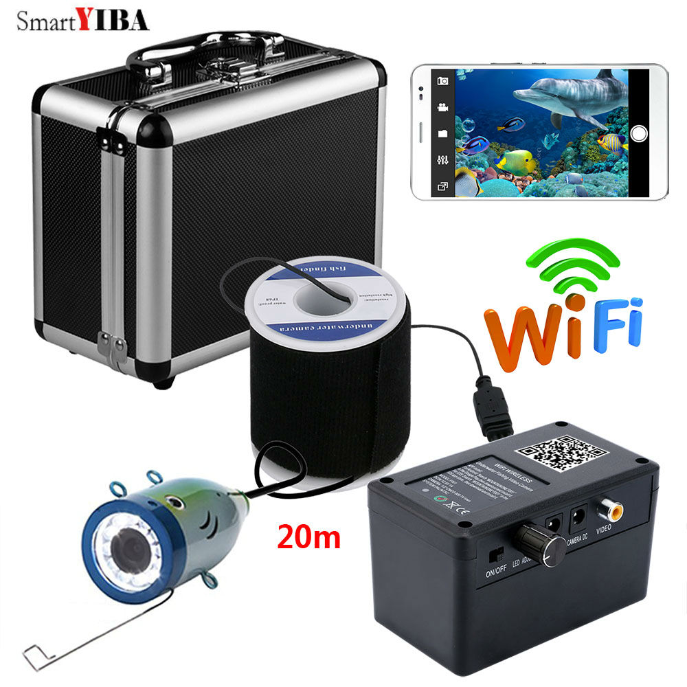 SmartYIBA Wifi Wireless Underwater Fishing Camera IOS Android APP Control Video Record and Take Photo Camera Fish FindersSmartYIBA Wifi Wireless Underwater Fishing Camera IOS Android APP Control Video Record and Take Photo Camera Fish Finders