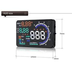 Image 4 - GEYIREN 5.5 A8 HUD Car head up display OBD II EUOBD LED Windscreen Project Alarm System on board OBD scanner Universal auto