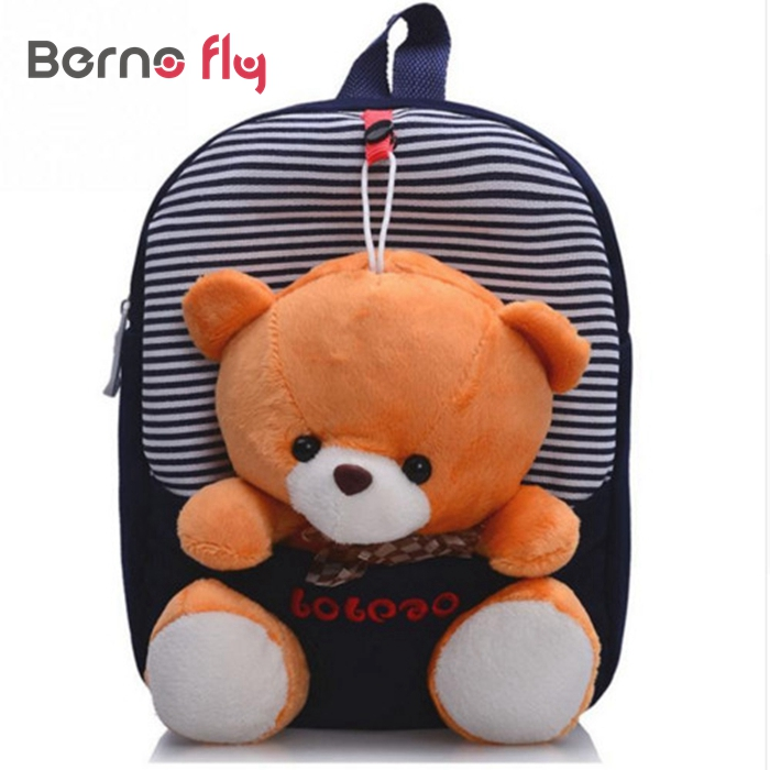 2016 Cute Children school bags kindergarten girls boys backpack cartoon <font><b>toys</b></font> bear ribbons bow <font><b>kids</b></font> backpack