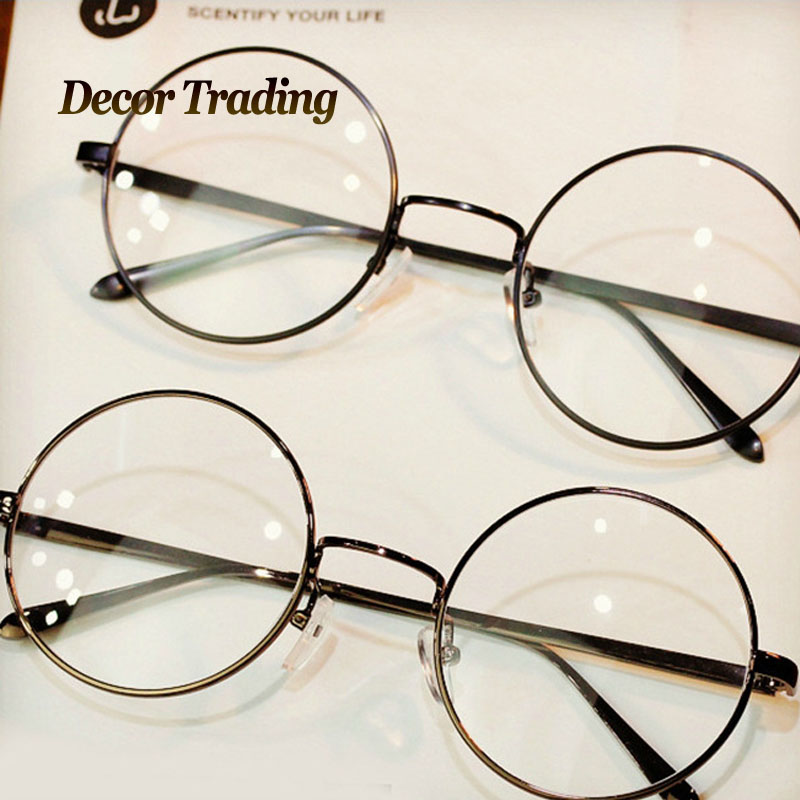 big round metal glasses frame women men retro eyewear fashion ultra light brand designer sun glasses circle eyeglasses 8890