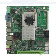 ราคาถูก MINI Mainboard Support Intel Core i3 i5 i7 โปรเซสเซอร์ฝังเมนบอร์ดอุตสาหกรรม 4xSATA XP/Win7/win10 เมนบอร์ด