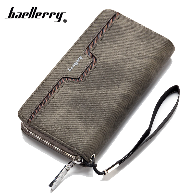 Baellerry Long Money Clutch Bag Lady Women Men Wallet Male Female Coin Purse Cuzdan For Card Holder Baellery Wristlet Portomonee
