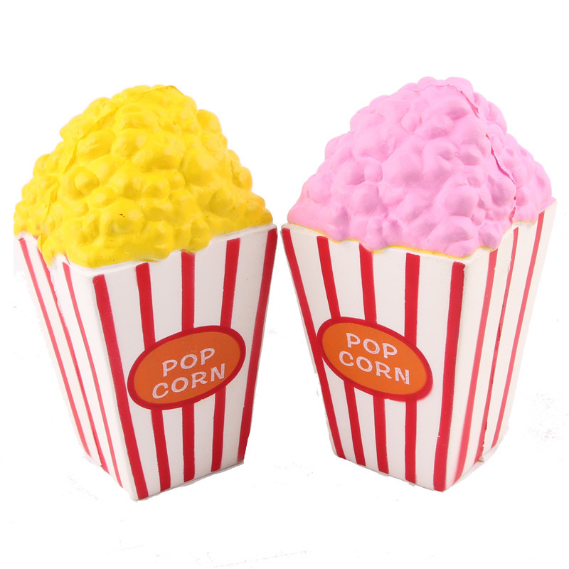1pc Soft Rebound Flexible PU Plastic Squishy Puffed Rice Popcorn Toy Children Kids Baby Bebe Play Safe Lovely Kitchen Decoration