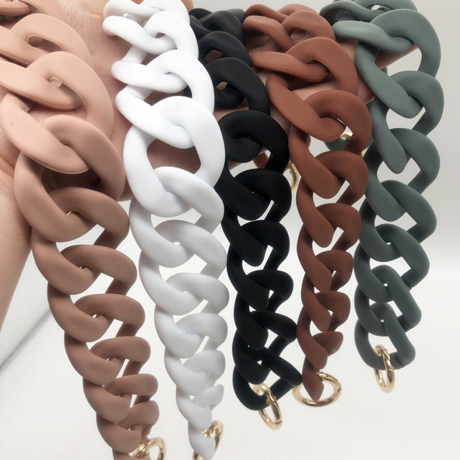 36cm Scrub Acrylic Chain Resin Chains Luxury Women Handbags Handle Designer Shoulder Strap Belt DIY Bag Purses Accessories 2019