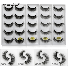 YSDO 5 pairs 11mm-15mm new arrivals mink eyelashes natural long lashes 1 box false hand made makeup G60Y