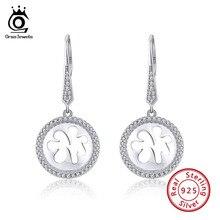 Earrings Orsa Jewels Dreamcatcher-Design Sterling-Silver Women Zircon Valentine's-Day-Gift