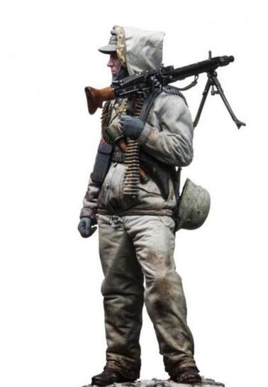 1/35 Resin Kits Machine Gunner Soldier 1pc Not Assembled Uncolored