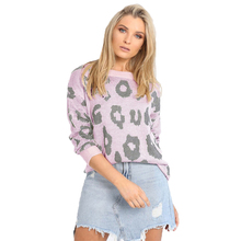 Sweater Women Long Sleeve Leopard Print Loose Sueter Mujer Invierno Fashion 2019 O-neck Turtleneck