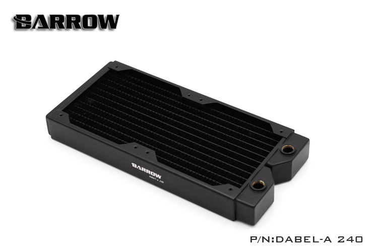 Original Barrow Dabel-a 240mm single wave brass water cooling cooler block radiator row 34MM suitable 12cm series pc fan chassis free delivery original afb1212she 12v 1 60a 12cm 12038 3 wire cooling fan r00