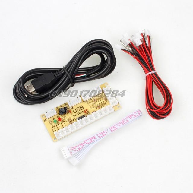 De zero Atraso Encoder USB para PC Substituir USB lidar com Controlador Para Joystick De Arcade Roqueiro DIY Kits Sanwa Peças Mame