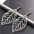 Hot Gift!!Wholesale Big Earrings Silver Plated Gold Plated Earring Jewelry Gloss Leaves Earrings For Women