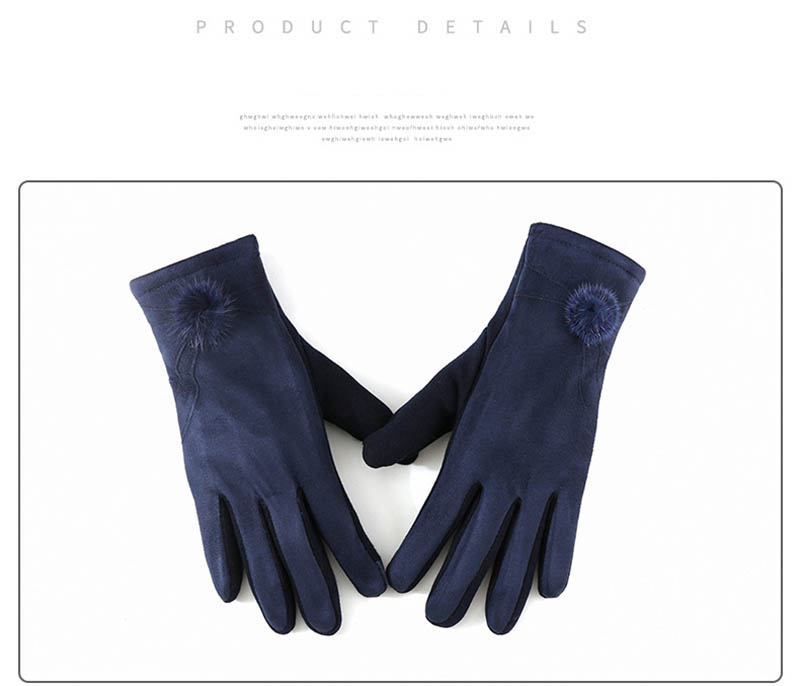 Winter Windproof Touch Screen Gloves for Female made of Cashmere Suede Leather Allows to Use Touch Screen Device Freely 11