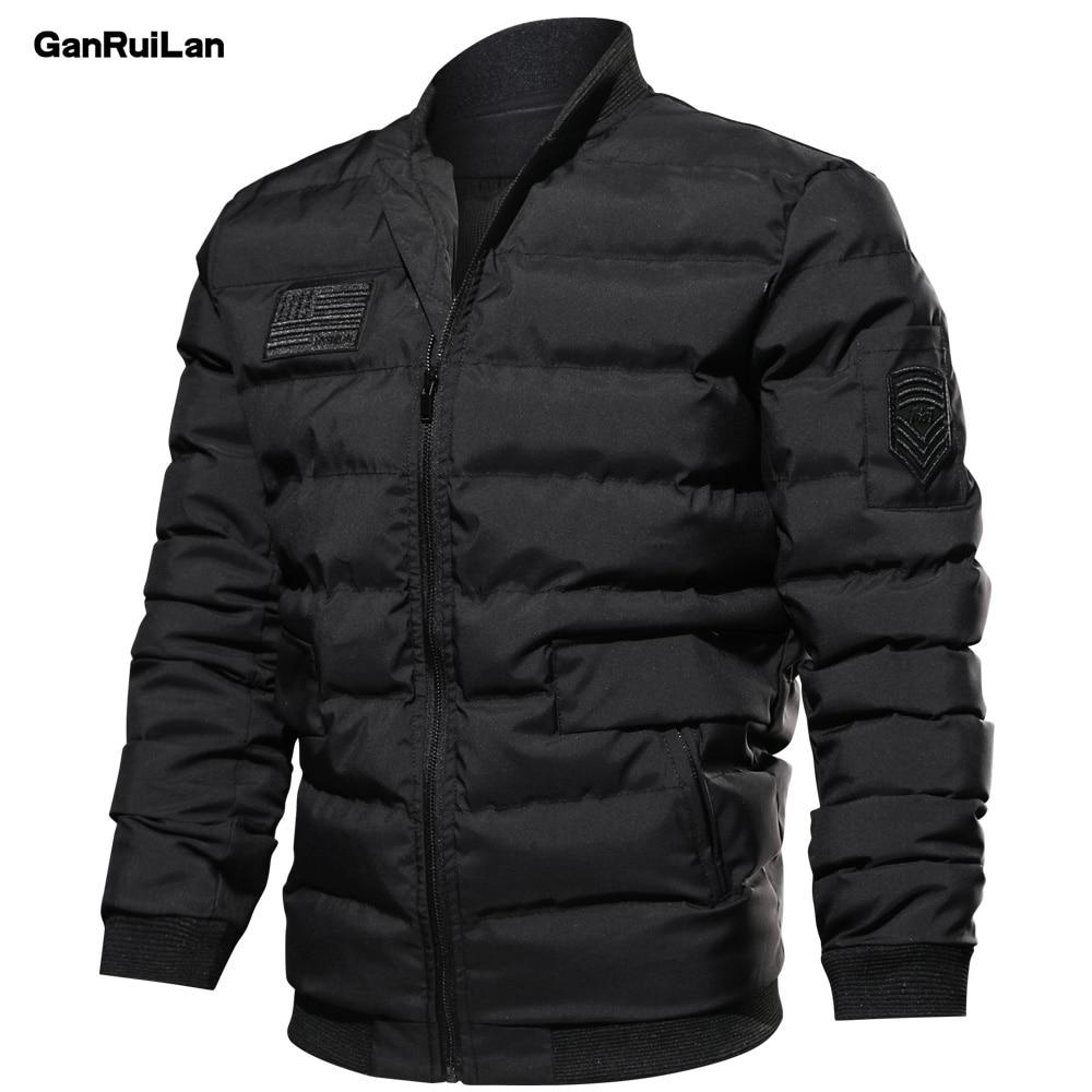 2018 зимние теплые прочные стеганая куртка Для мужчин Водонепроницаемый военные Стиль в стиле милитари рукава съемная верхняя одежда парка п...