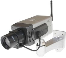Fake Dummy CCTV Camera Motion Detection Sensor Motorized Pan Movement LED