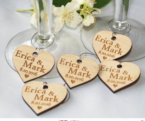 custom wedding wooden gift wine charms tags invitation labels cards party engagement bridal shower decorations in cards invitations from home garden on