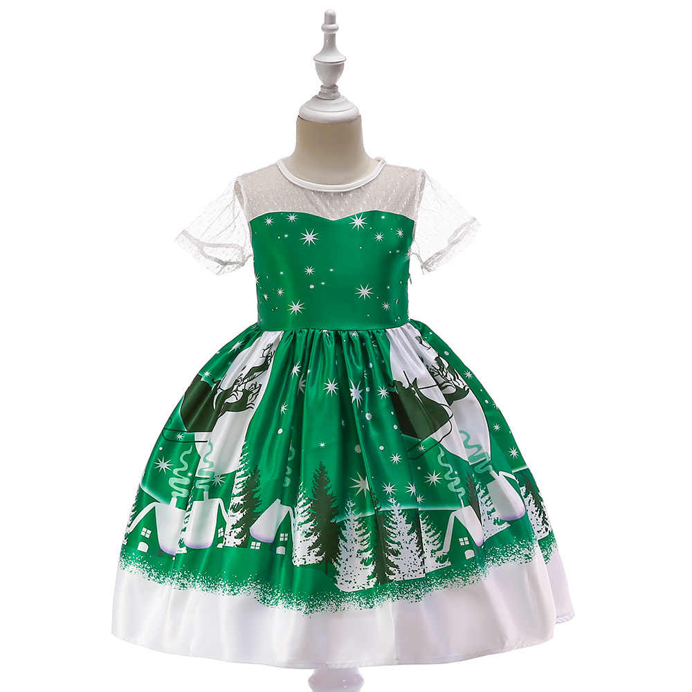 Toddler Christmas Tree Costume.Toddler Girl Christmas Costume Tutu Christmas Tree Princess Christmas Printed Cosplay Clothes Greennew Year Wedding Party Dress