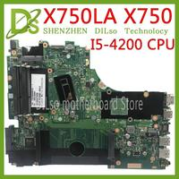 KEFU X750LA mainboard For ASUS X750 X750LB X750LN X750L K750LB laptop motherboard I5 4200H Test work 100% original