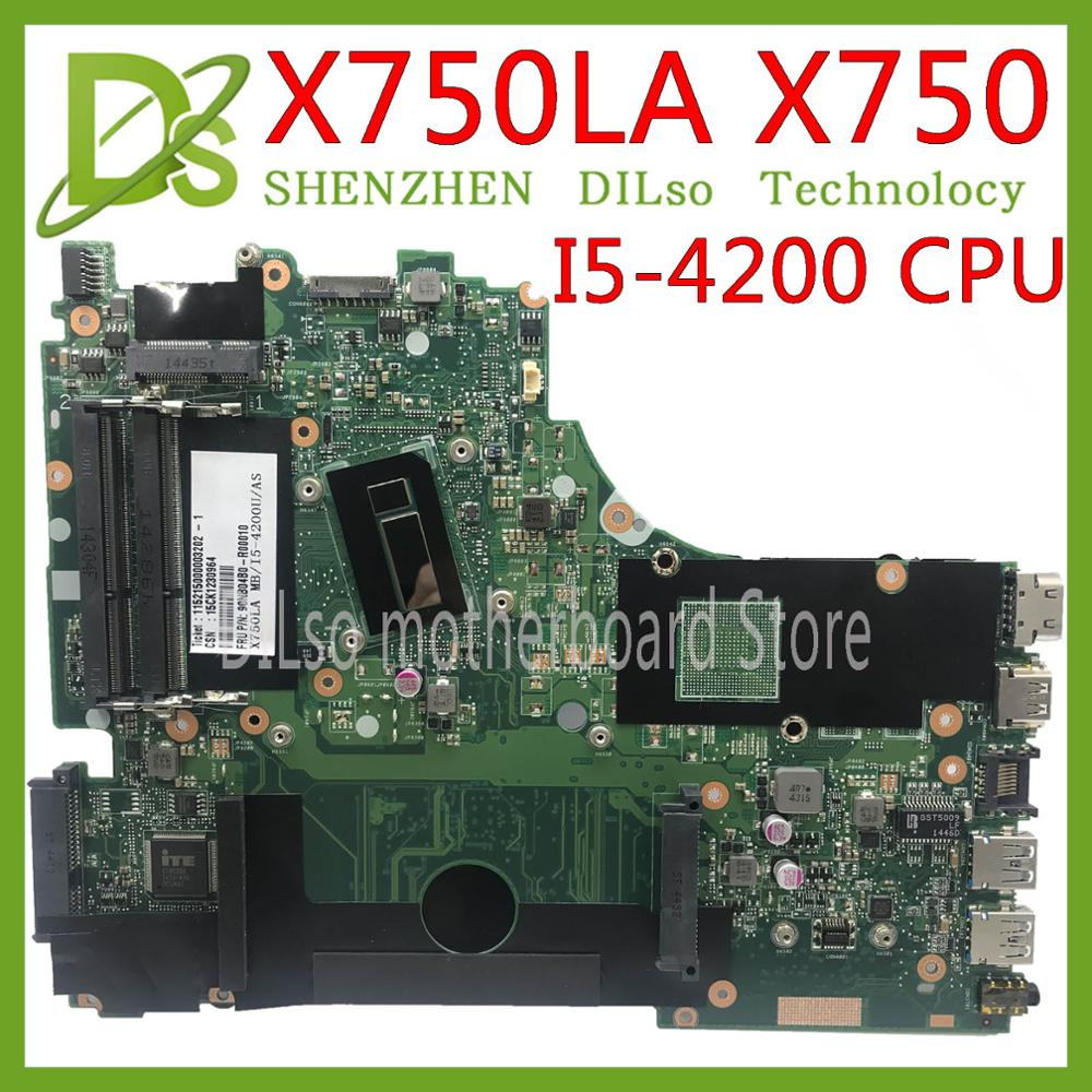 KEFU X750LA mainboard For <font><b>ASUS</b></font> X750 <font><b>X750LB</b></font> X750LN X750L K750LB laptop motherboard I5-4200H Test work 100% original image