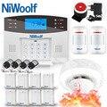 NiWoolf Беспроводная Проводная GSM сигнализация домашняя охранная сигнализация дверь открытый движения Инфракрасный датчик Аккумулятор для де...