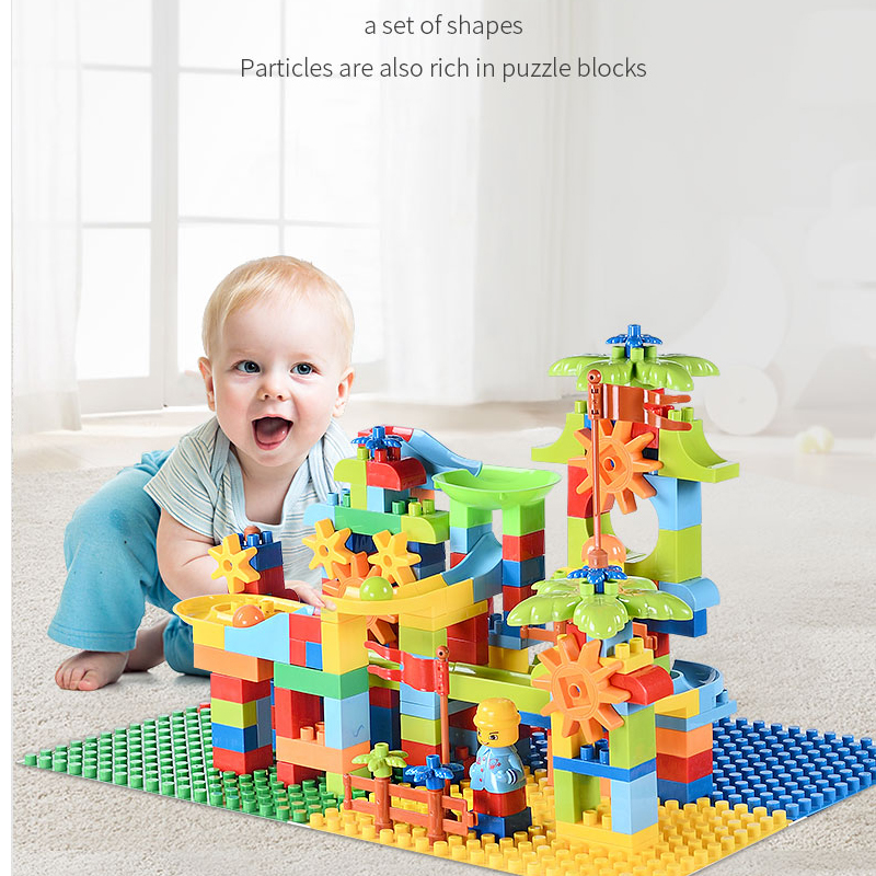 design building blocks toys construction set for children boys kids Compatible with legoings Duplo brick educational track model in Blocks from Toys Hobbies