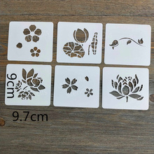 36pcs,Fairy, Flower,Animal,Words,Small Stencils for Painting,Craft Projects,Polymer Clay,DIY Scrapbooking,Stamping Stencil