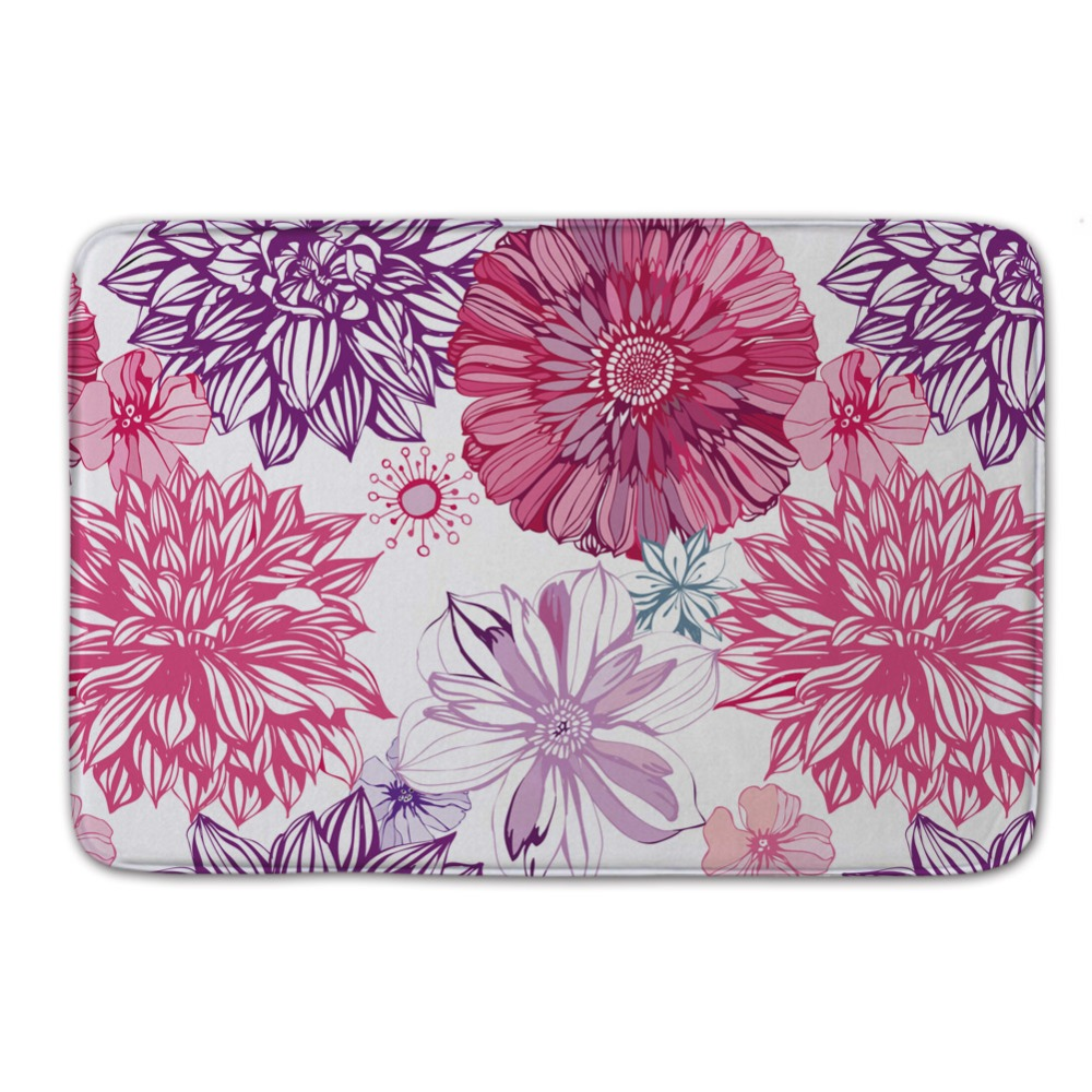 Gorgeous Flower Colorful Mats Free Shipping Kid Rugs And Carpets Non Slip  Coral Fleece Bath